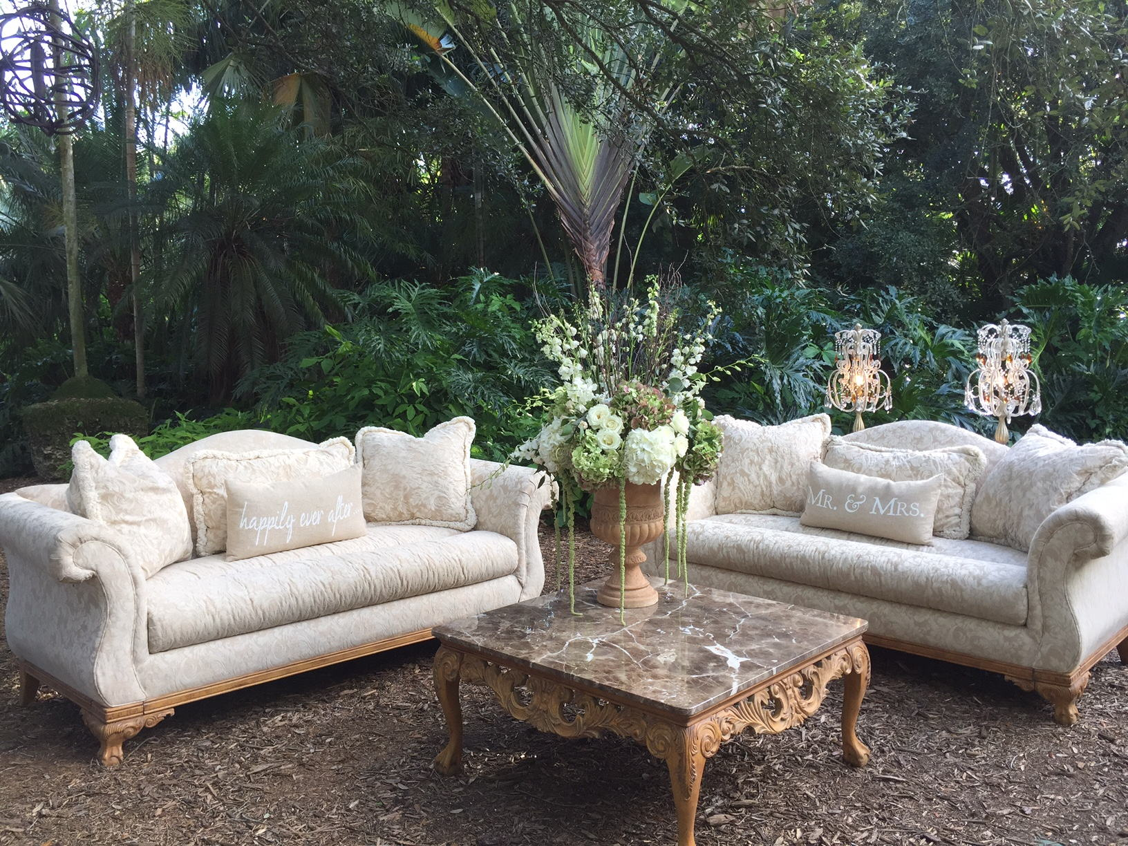 Diana Damask Furniture Set Rental