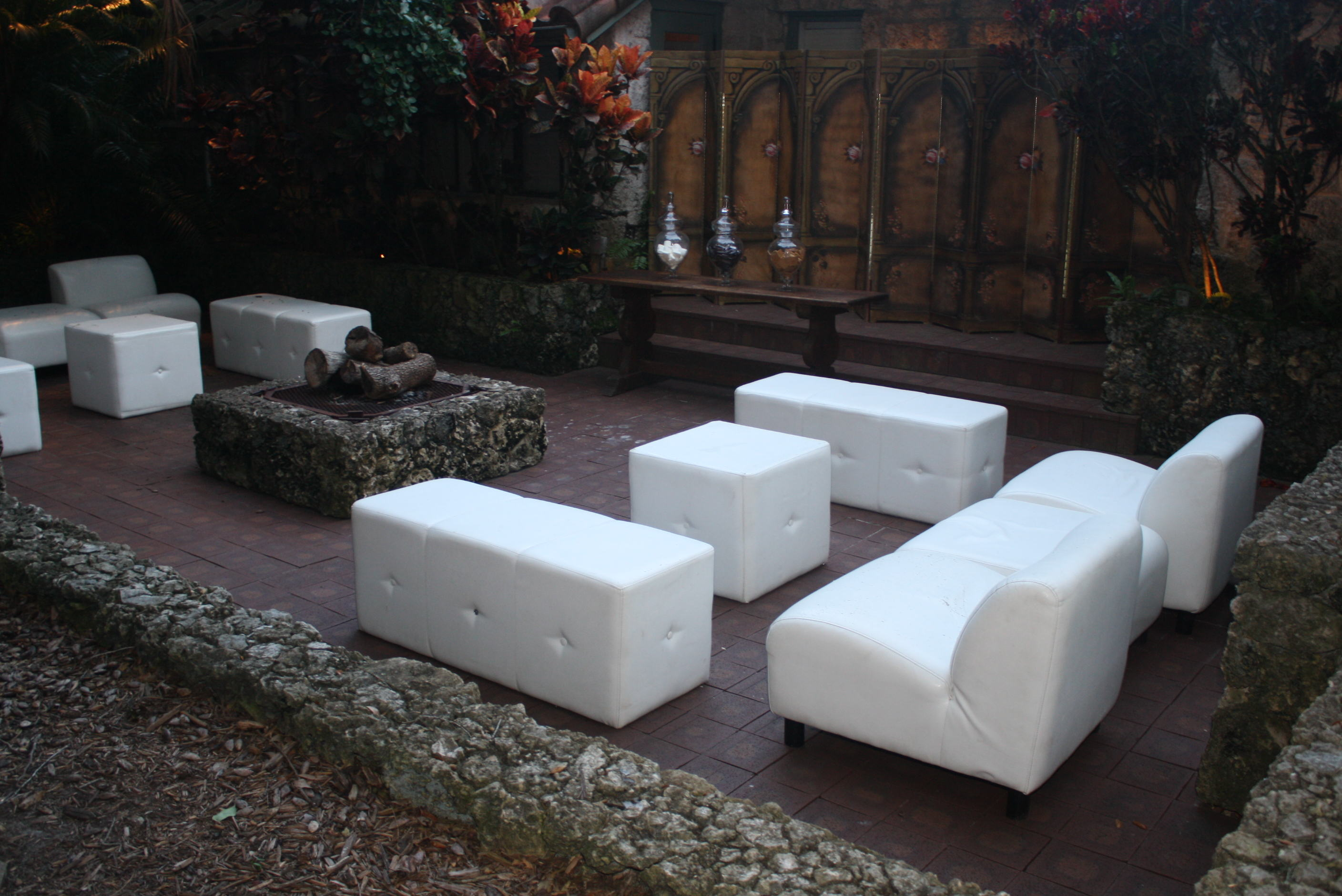 White Lounge Furniture Rental