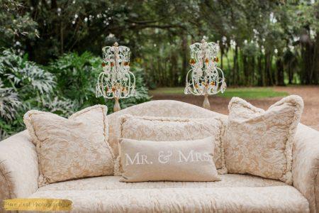 Diana Damask Set Close-up , Outdoor Wedding Photography
