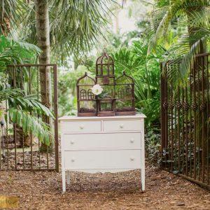 Vintage-White-Dresser , Vintage White Dresser, Wedding Location Miami