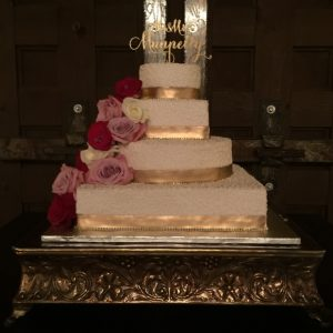 Wedding Cake Photography , Gold Cake Stand