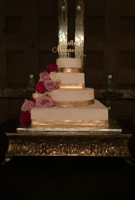 Wedding Cake Photography , Gold Cake Stand